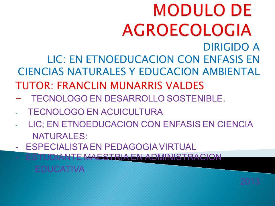 MODULO DE AGROECOLOGIA