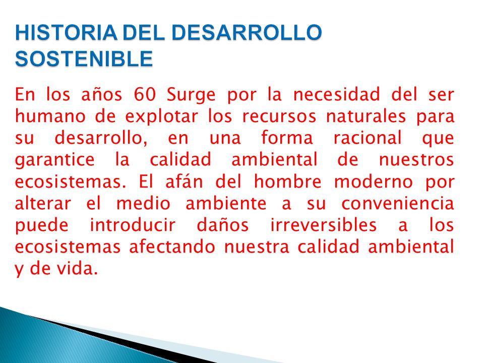 HISTORIA DEL DESARROLLO SOSTENIBLE