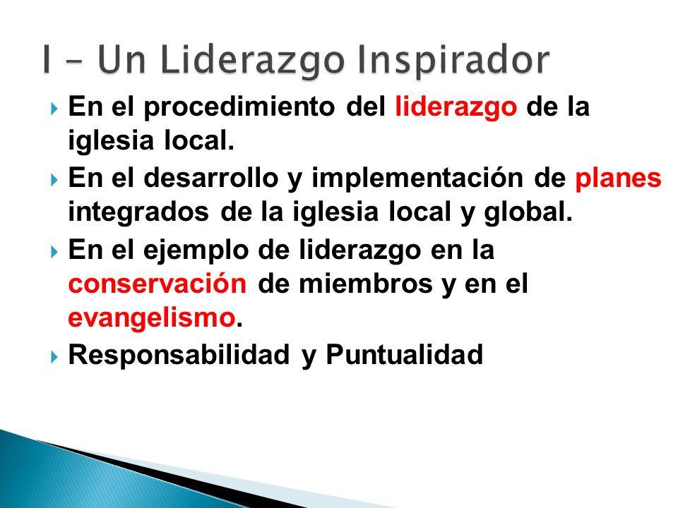 I – Un Liderazgo Inspirador