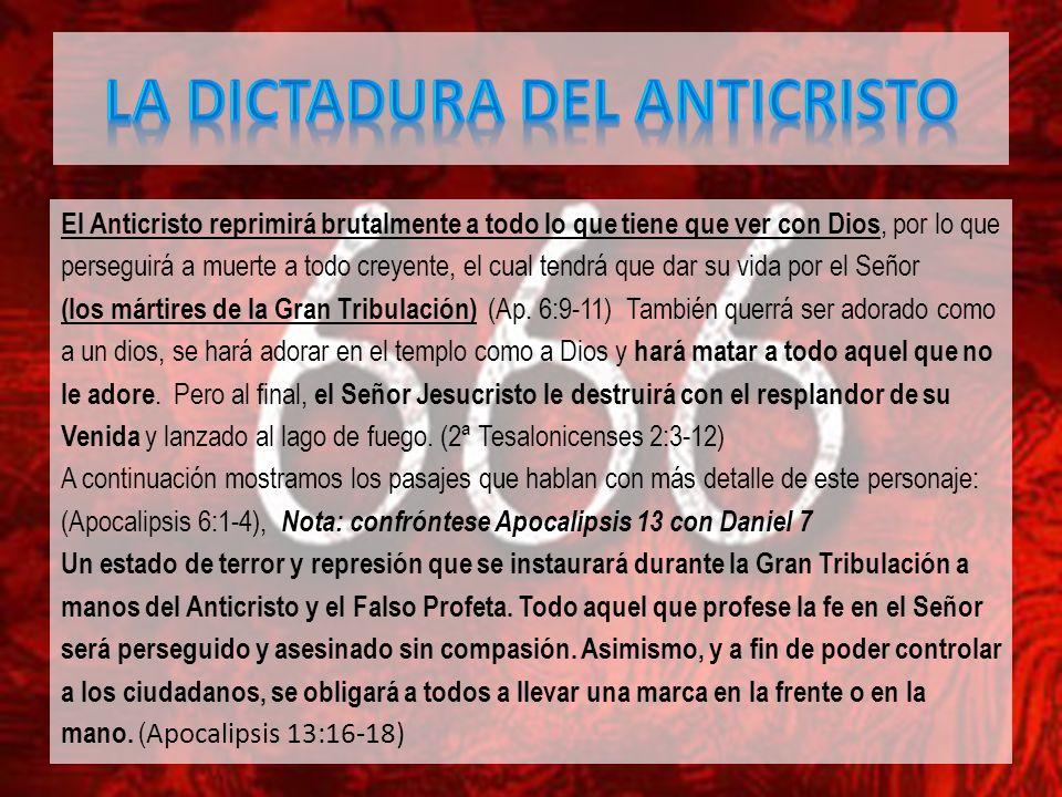 LA DICTADURA DEL ANTICRISTO