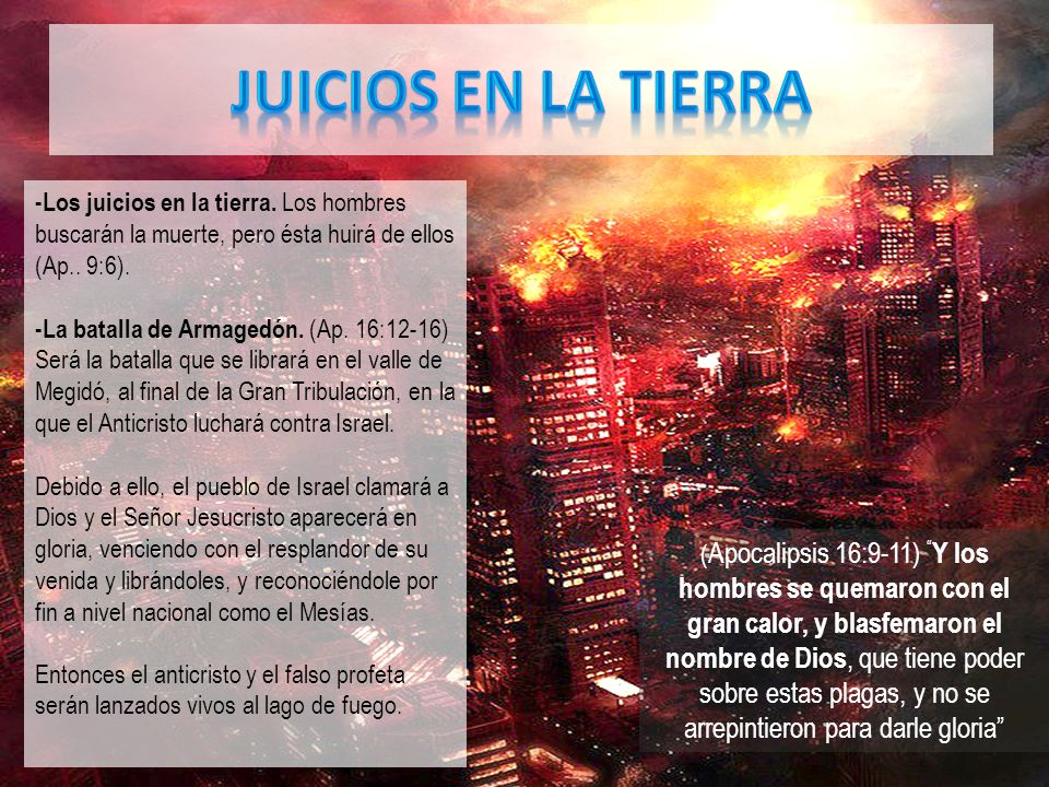 JUICIOS EN LA TIERRA -Los juicios en la tierra. Los hombres