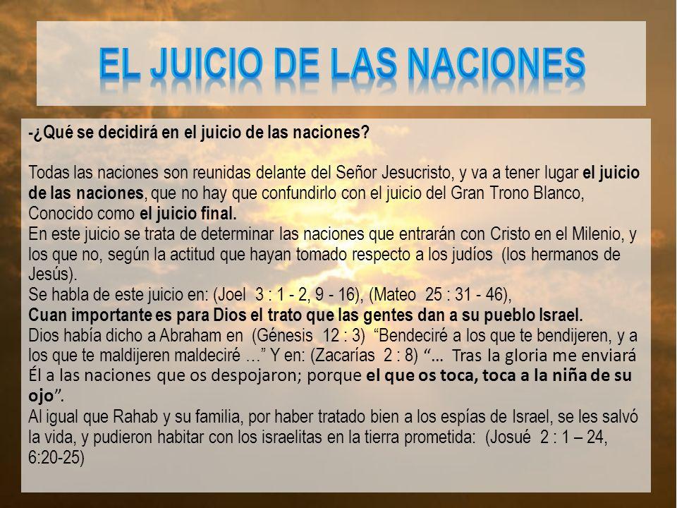 EL JUICIO DE LAS NACIONES