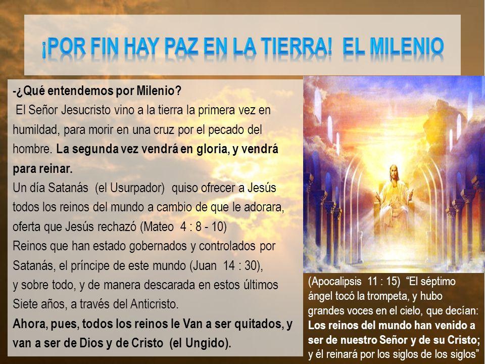 ¡POR FIN HAY PAZ EN LA TIERRA! EL MILENIO