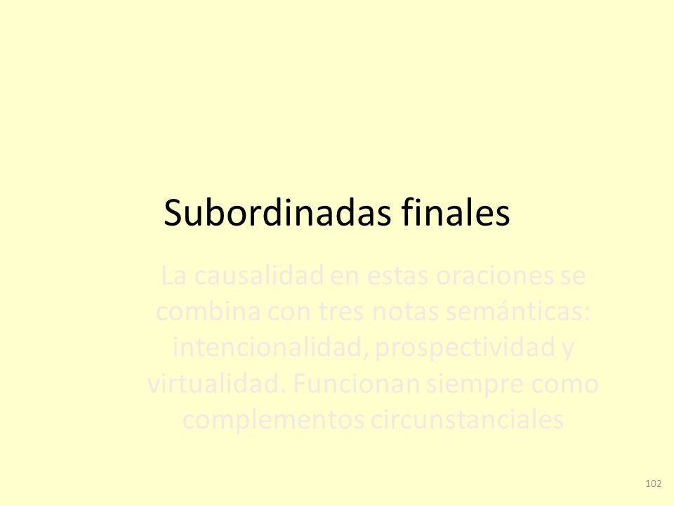 Subordinadas finales