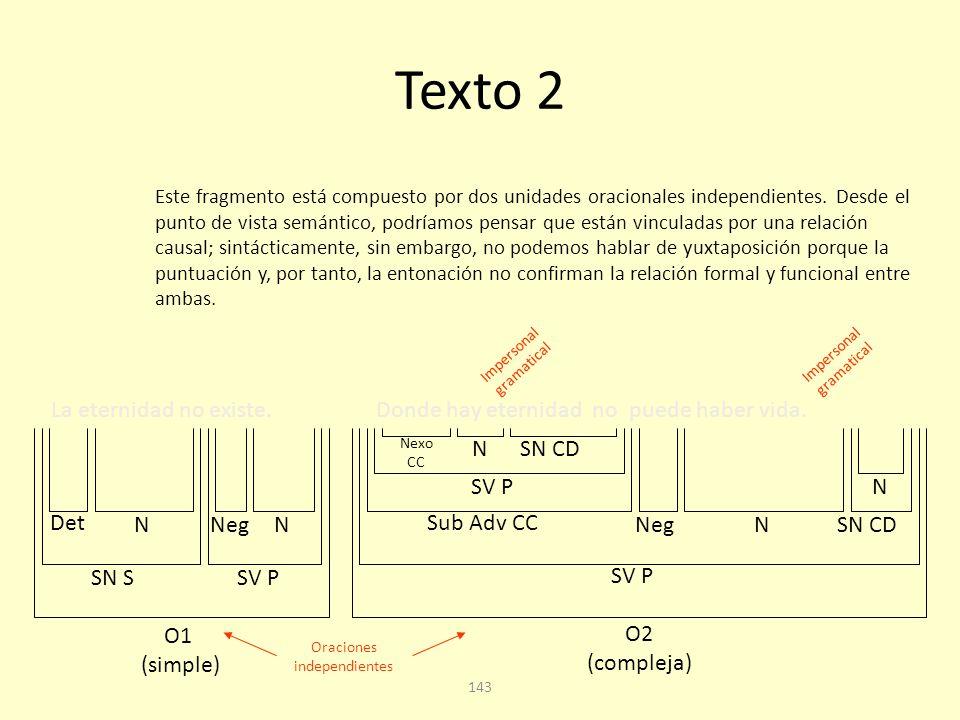 Texto 2 La eternidad no existe.