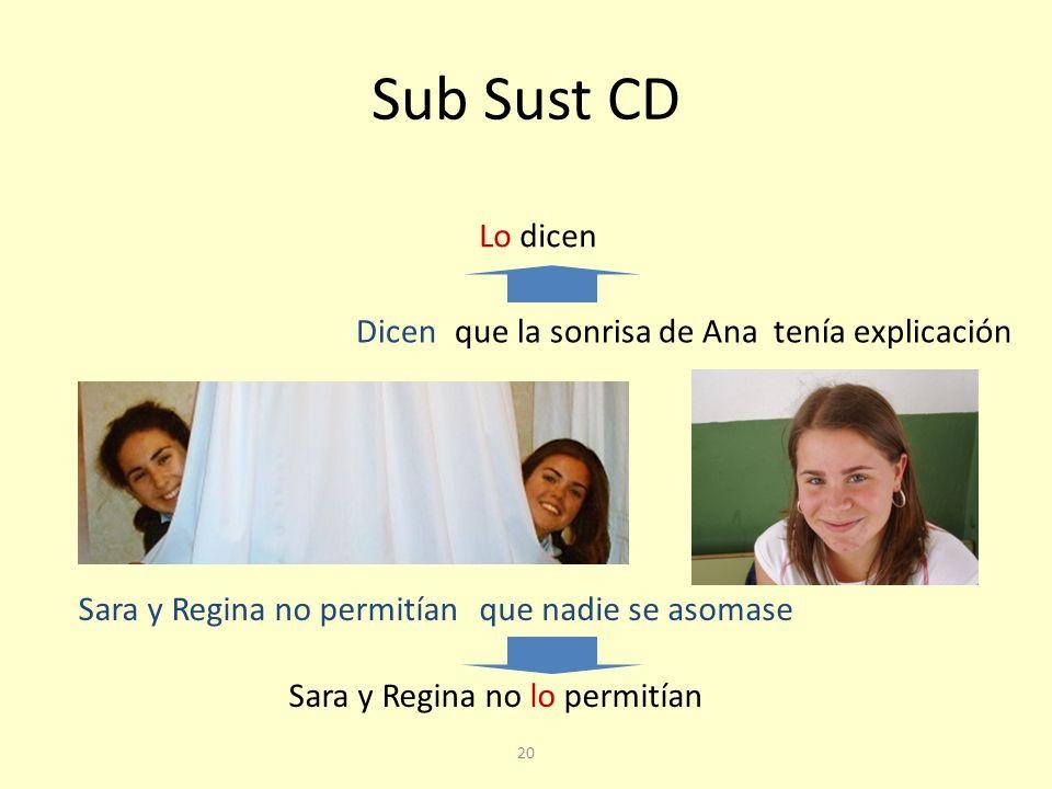 Sub Sust CD Lo dicen Dicen que la sonrisa de Ana tenía explicación