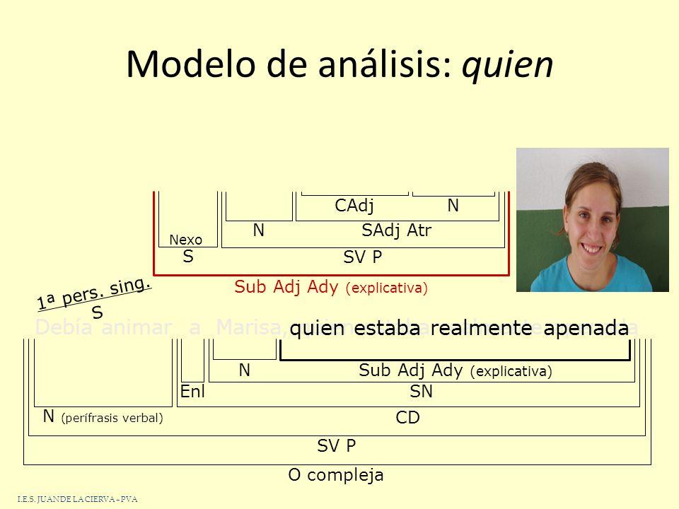 Modelo de análisis: quien