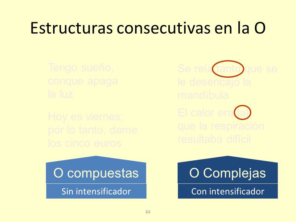 Estructuras consecutivas en la O