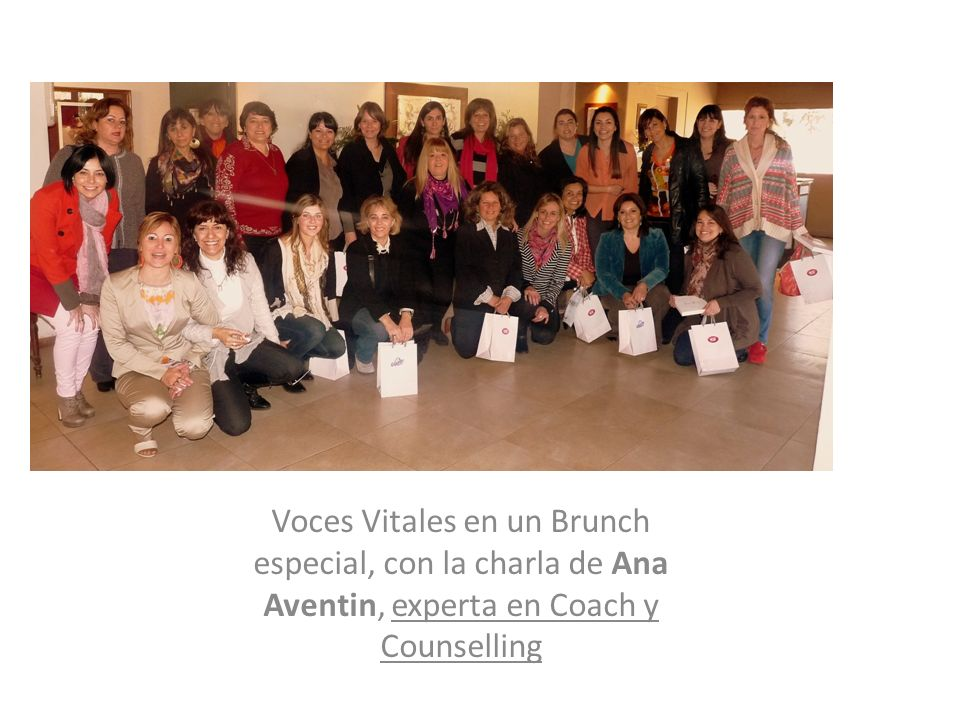 Voces Vitales en un Brunch especial, con la charla de Ana Aventin, experta en Coach y Counselling