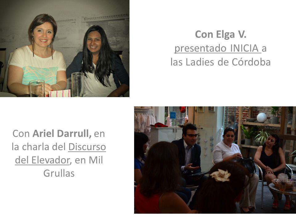 Con Elga V. presentado INICIA a las Ladies de Córdoba