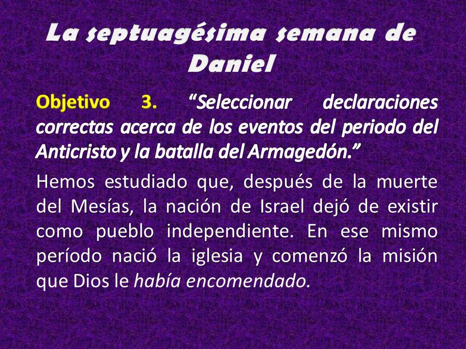 La septuagésima semana de Daniel