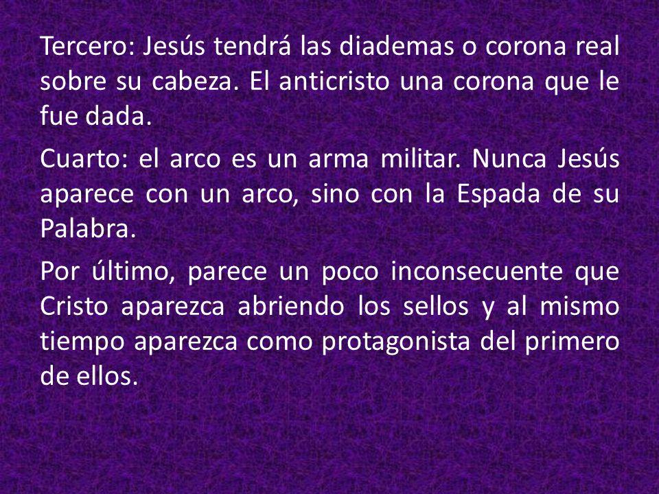 Tercero: Jesús tendrá las diademas o corona real sobre su cabeza