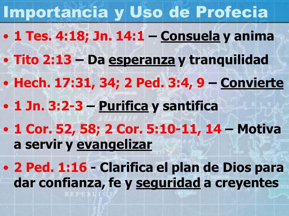 Importancia y Uso de Profecia