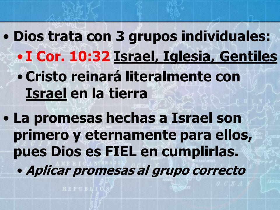 Dios trata con 3 grupos individuales: