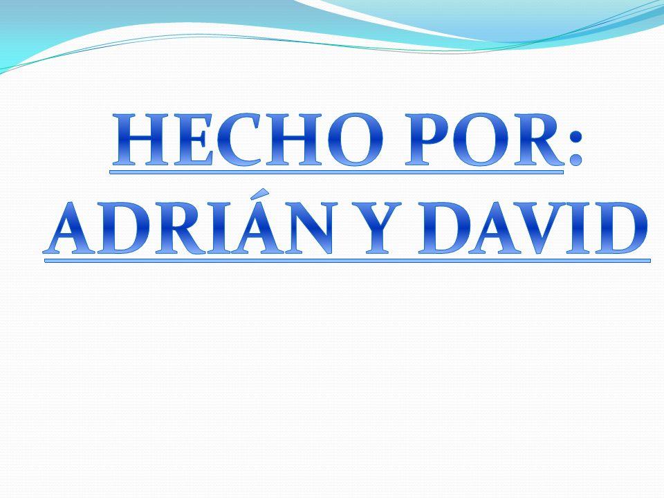 HECHO POR: ADRIÁN Y DAVID