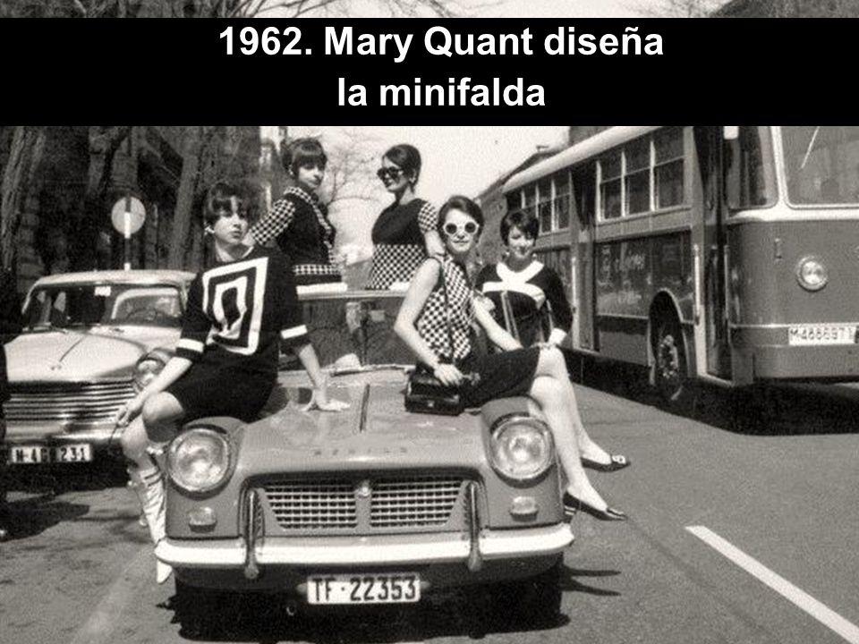 1962. Mary Quant diseña la minifalda