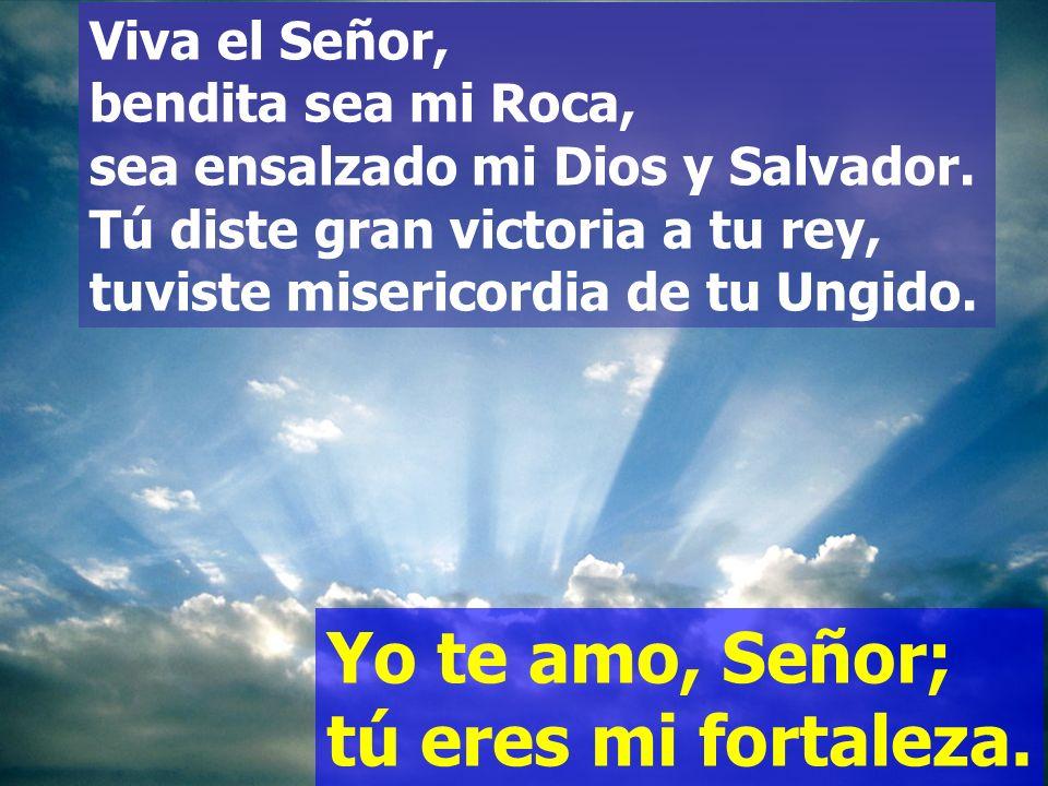 Yo te amo, Señor; tú eres mi fortaleza.