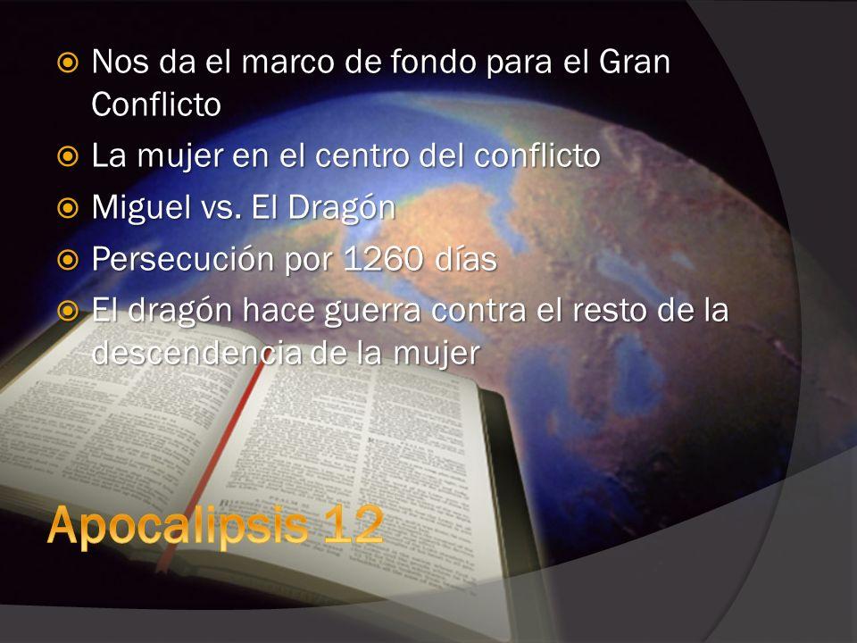Apocalipsis 12 Nos da el marco de fondo para el Gran Conflicto