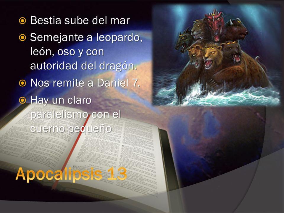 Apocalipsis 13 Bestia sube del mar