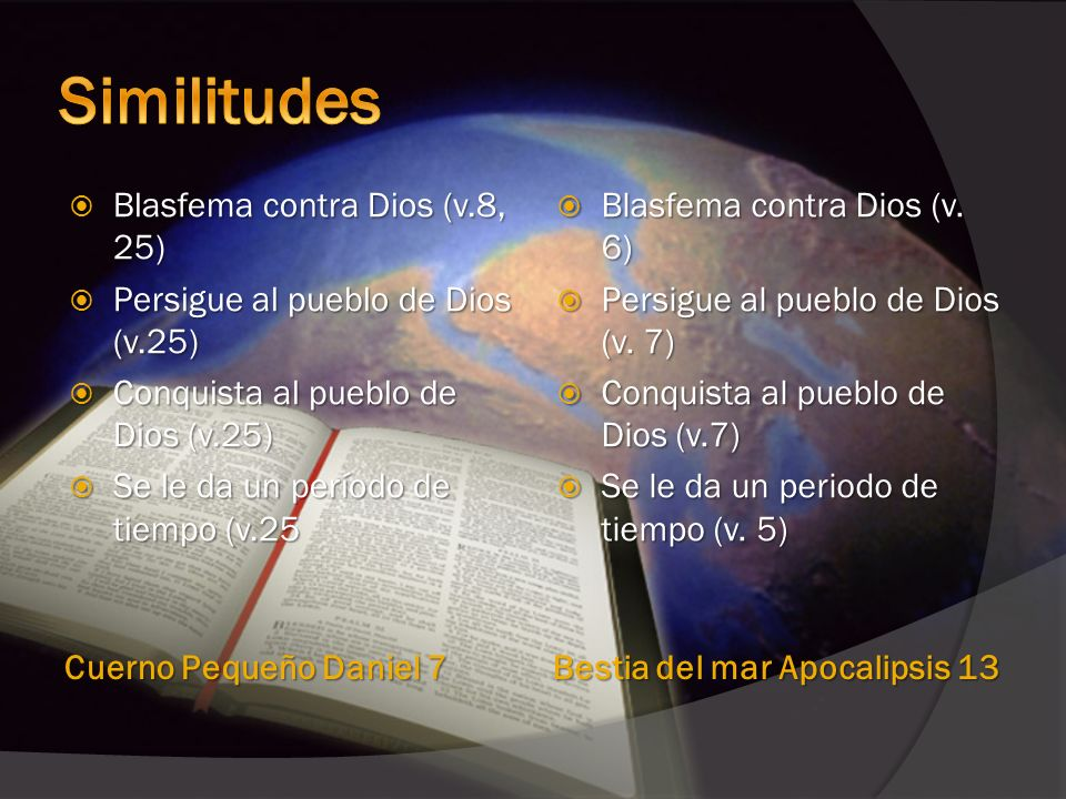 Similitudes Blasfema contra Dios (v.8, 25)