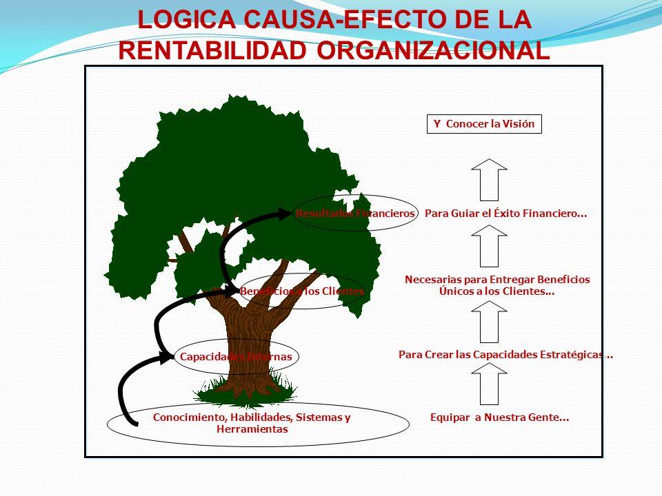 LOGICA CAUSA-EFECTO DE LA RENTABILIDAD ORGANIZACIONAL