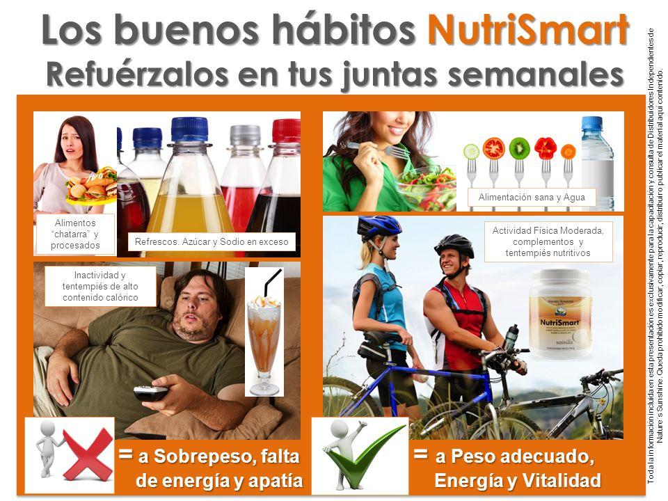 Los buenos hábitos NutriSmart Refuérzalos en tus juntas semanales
