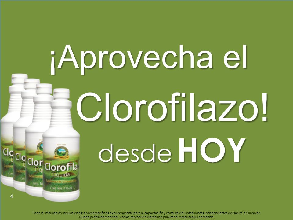 Clorofilazo! ¡Aprovecha el desde HOY