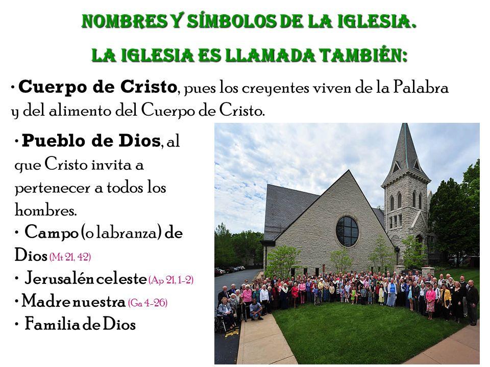 Nombres Y SÍMBOLOS de la Iglesia. La Iglesia es llamada también: