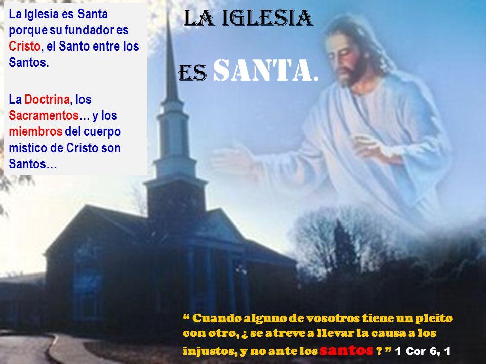 La Iglesia es Santa porque su fundador es Cristo, el Santo entre los Santos.