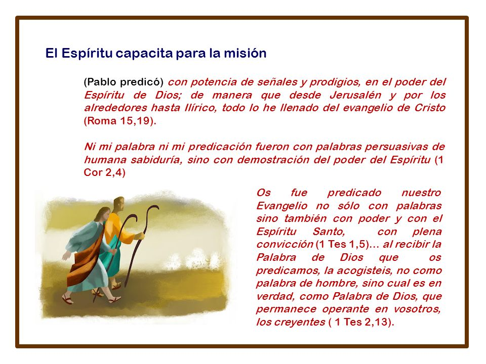 El Espíritu capacita para la misión