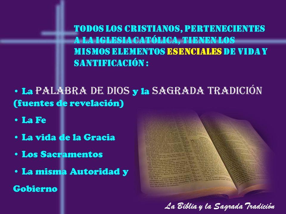 La Biblia y la Sagrada Tradición