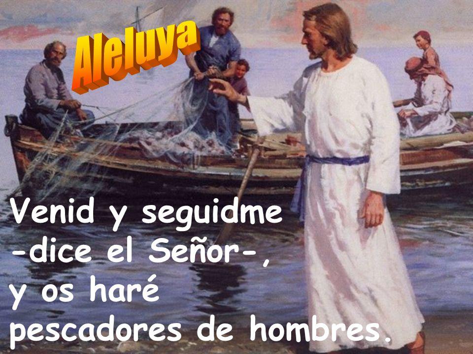 Venid y seguidme -dice el Señor-, y os haré pescadores de hombres.