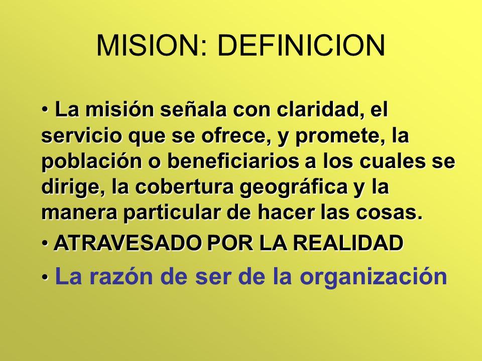 MISION: DEFINICION