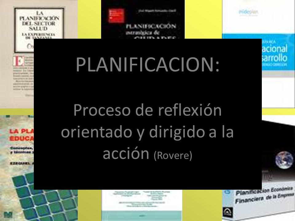 Proceso de reflexión orientado y dirigido a la acción (Rovere)