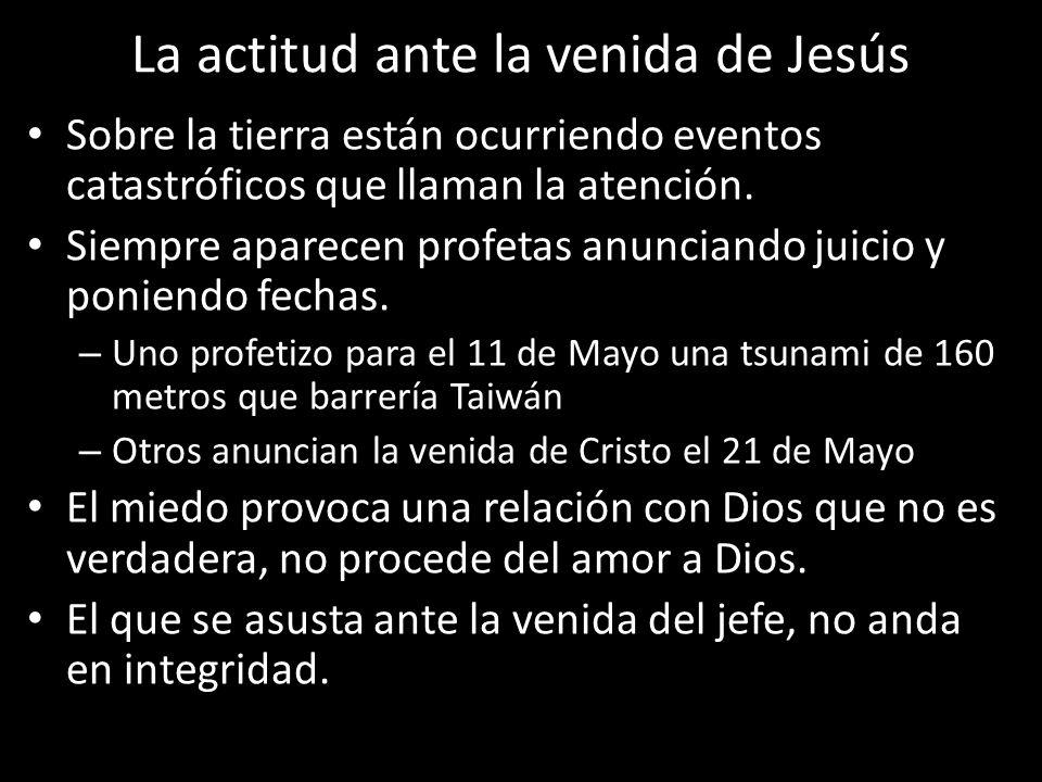 La actitud ante la venida de Jesús