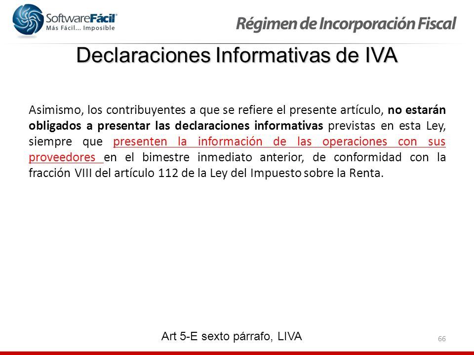 Declaraciones Informativas de IVA