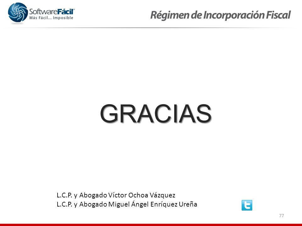 GRACIAS L.C.P. y Abogado Víctor Ochoa Vázquez