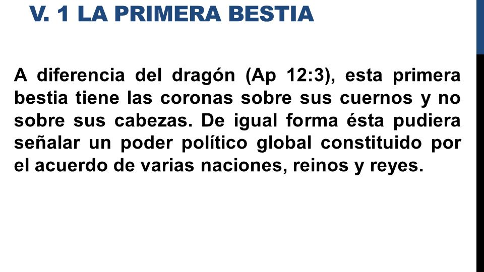 v. 1 La Primera bestia
