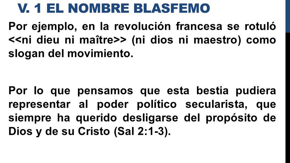 v. 1 el nombre blasfemo