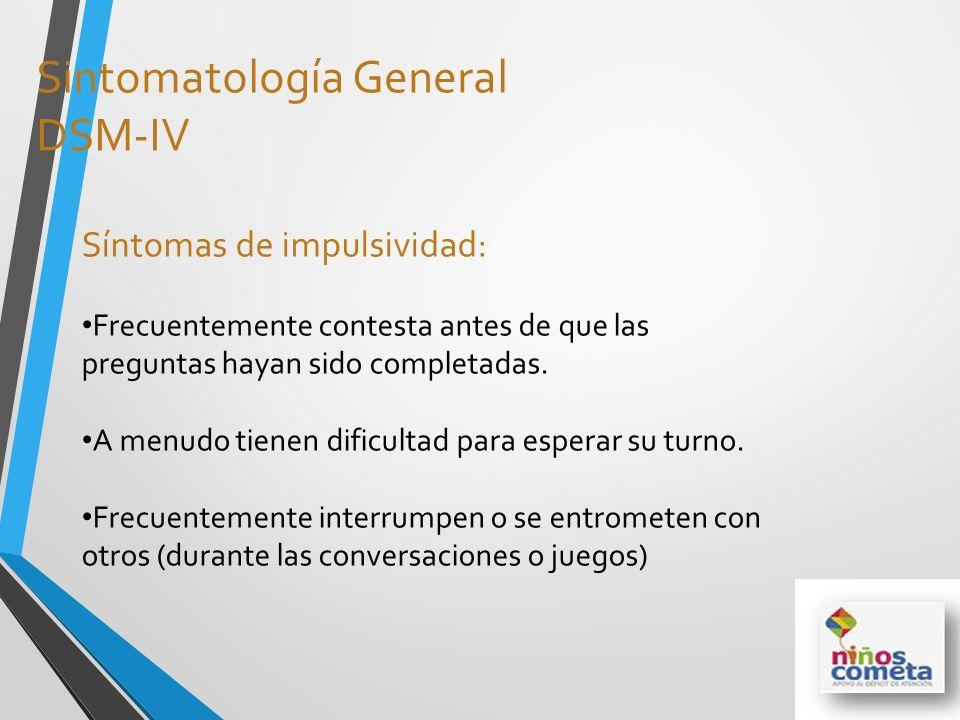 Sintomatología General DSM-IV