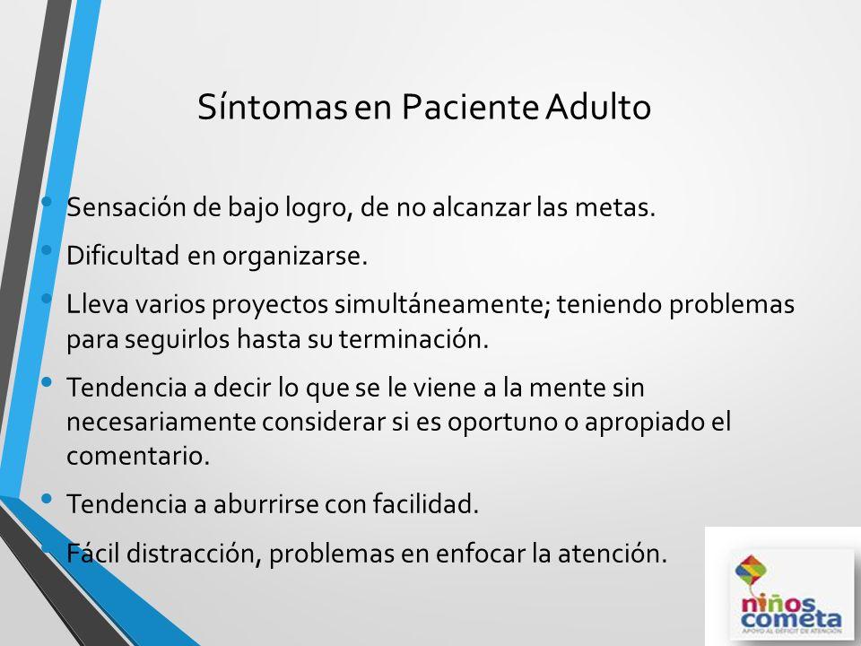 Síntomas en Paciente Adulto