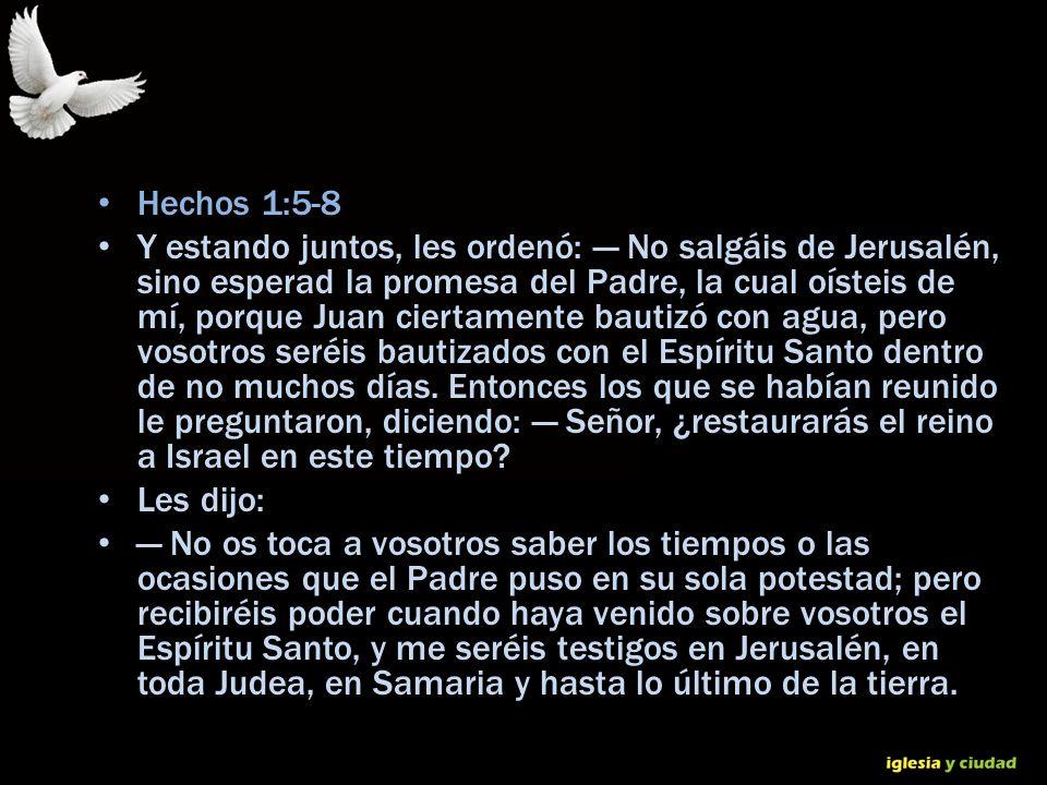 Hechos 1:5-8