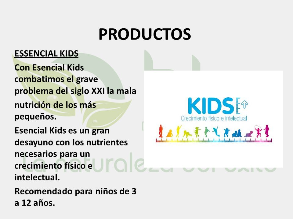 PRODUCTOS ESSENCIAL KIDS