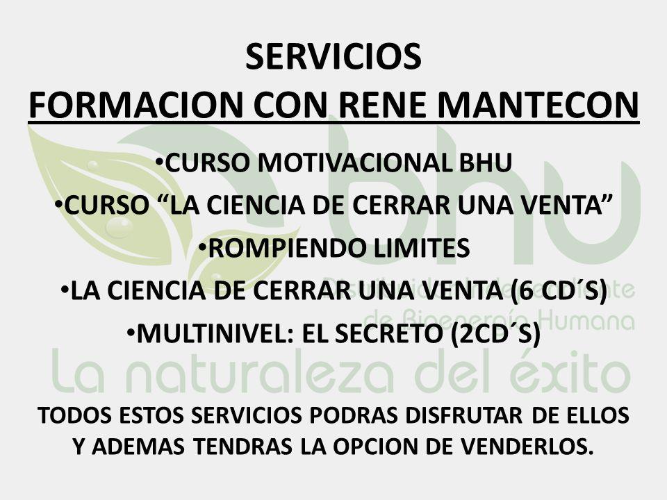 SERVICIOS FORMACION CON RENE MANTECON