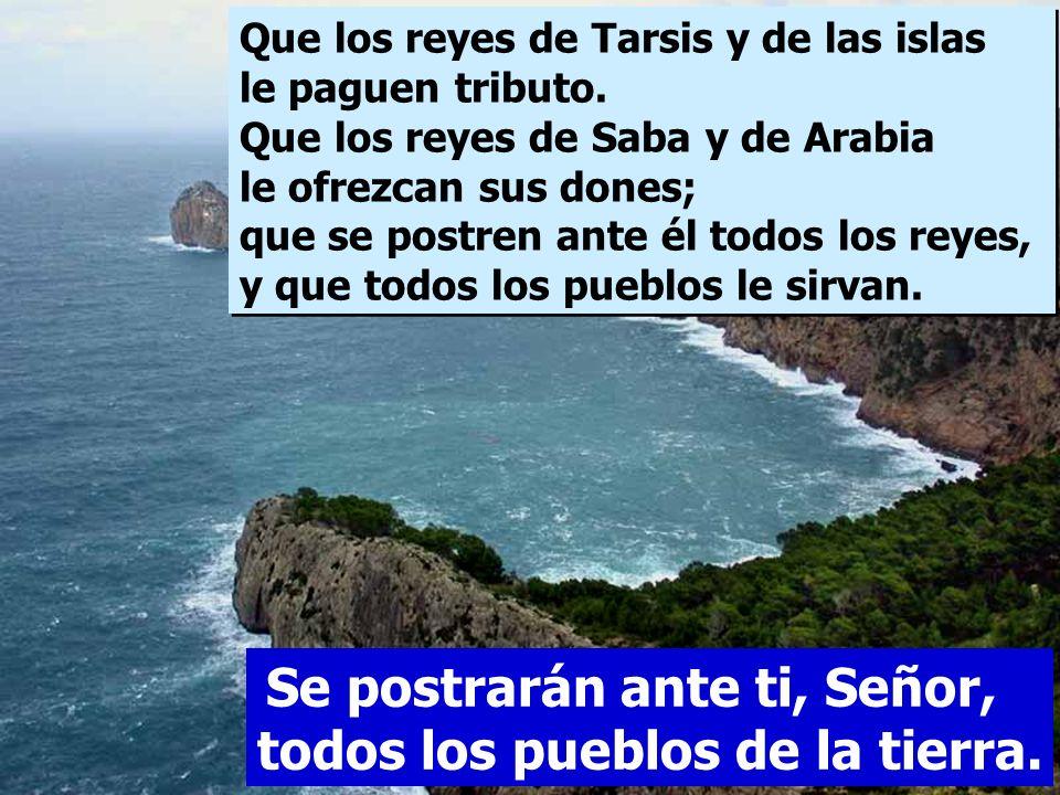 Que los reyes de Tarsis y de las islas le paguen tributo