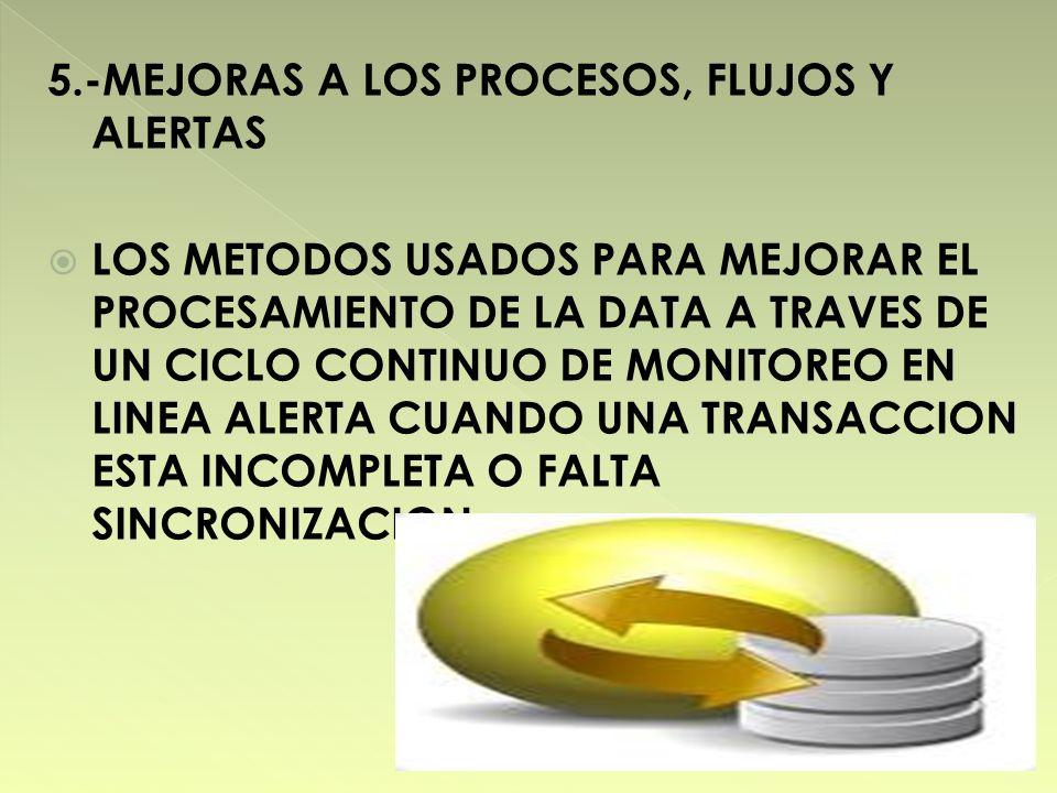 5.-MEJORAS A LOS PROCESOS, FLUJOS Y ALERTAS