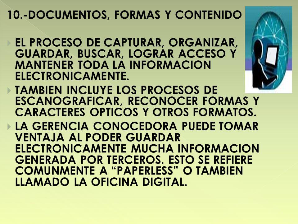 10.-DOCUMENTOS, FORMAS Y CONTENIDO
