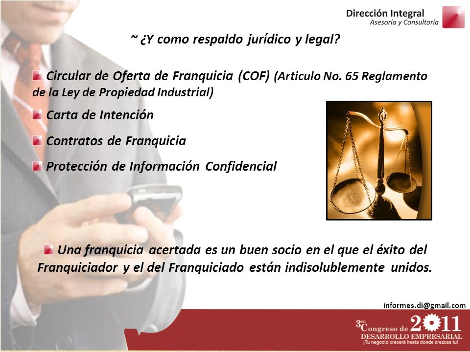 ~ ¿Y como respaldo jurídico y legal