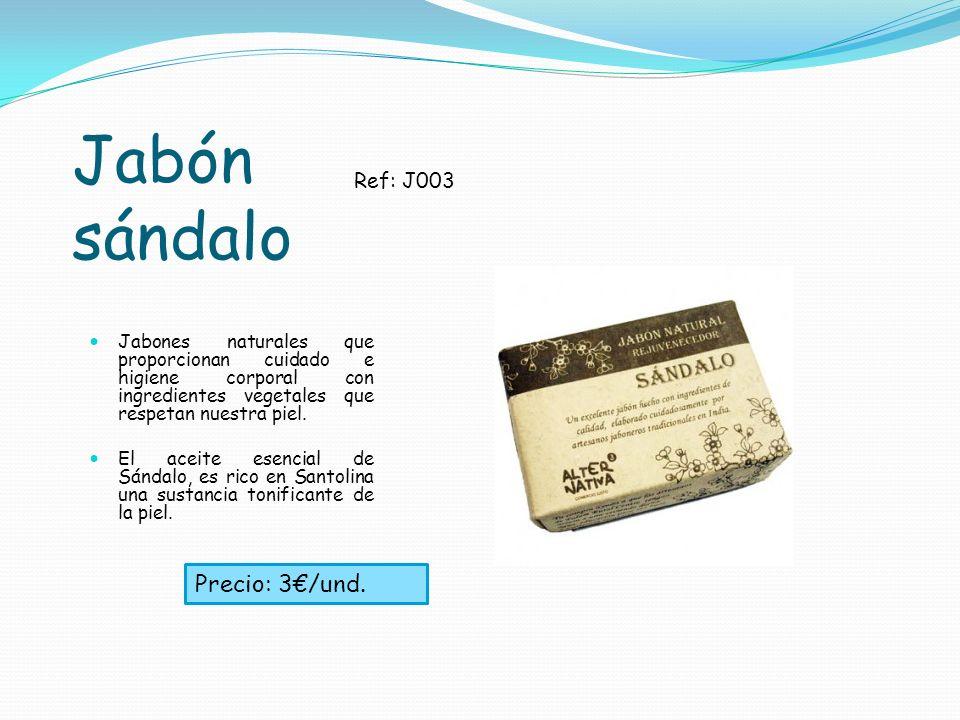 Jabón sándalo Precio: 3€/und. Ref: J003