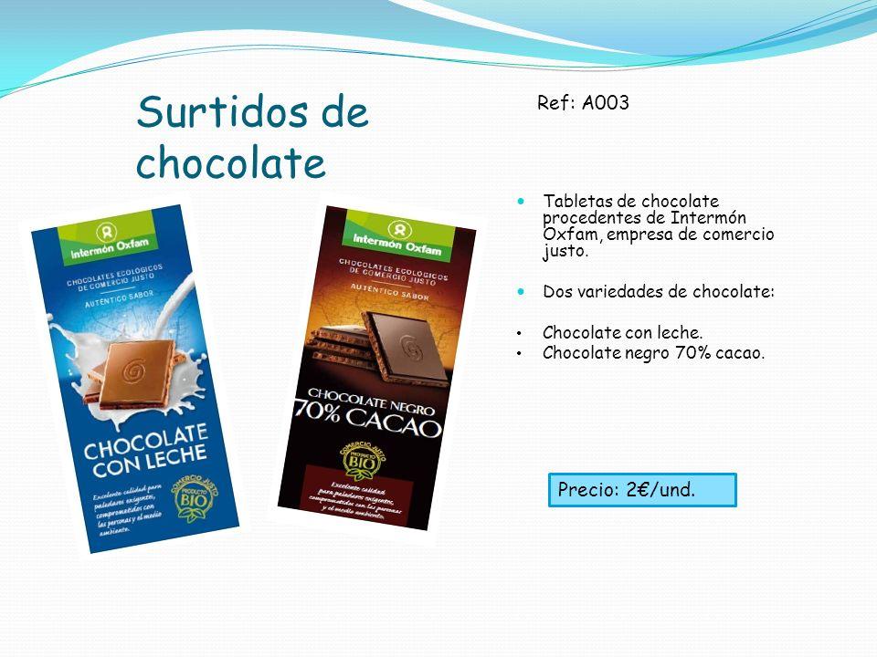 Surtidos de chocolate Ref: A003 Precio: 2€/und.